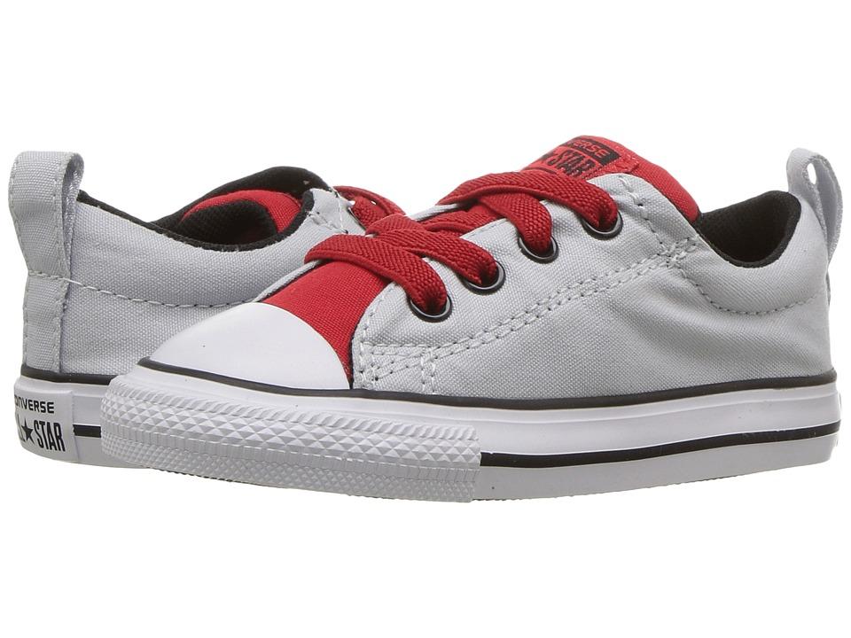 Converse Kids Chuck Taylor All Star Street Slip (Infant/Toddler) (Pure Platinum/Casino/Black) Boys Shoes