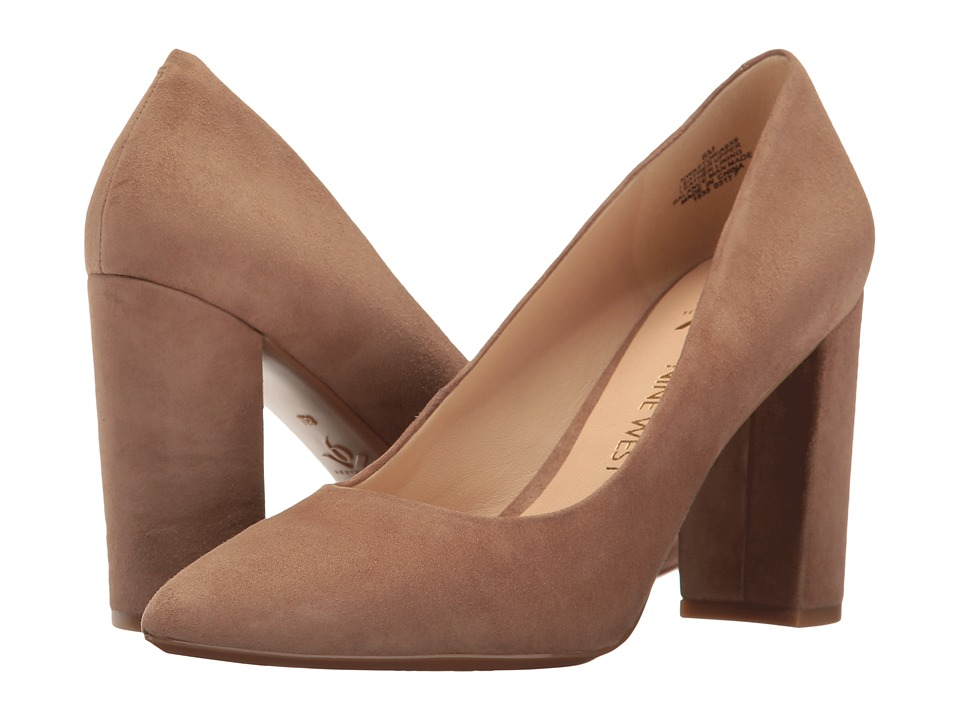 Nine West Astoria Block Heel Pump (Wheat Isa Kid Suede) High Heels