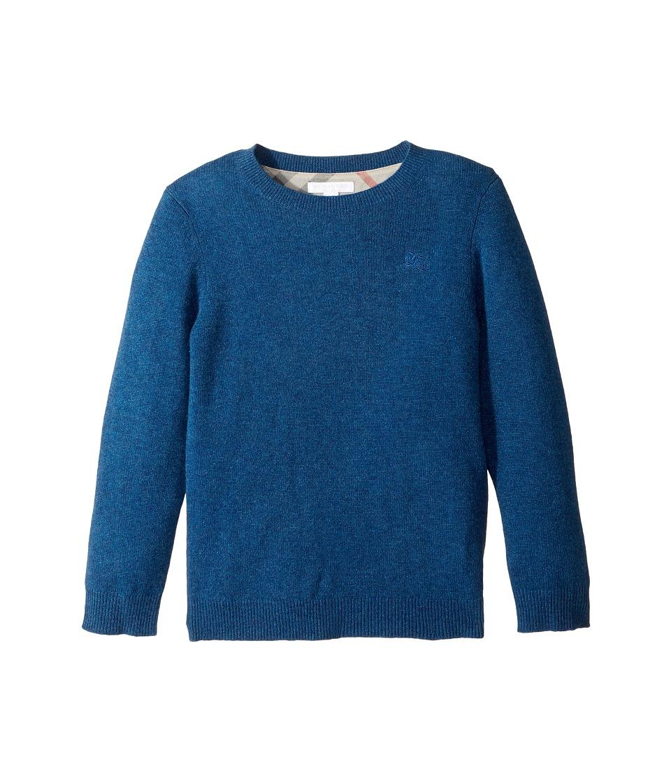 Burberry Kids Mini Durham Sweater (Little Kids/Big Kids) (Mineral Blue Melange) Boy