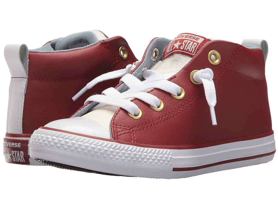 Converse Kids Chuck Taylor All Star Street Mid (Little Kid/Big Kid) (Terra Red/Egret/White) Boys Shoes