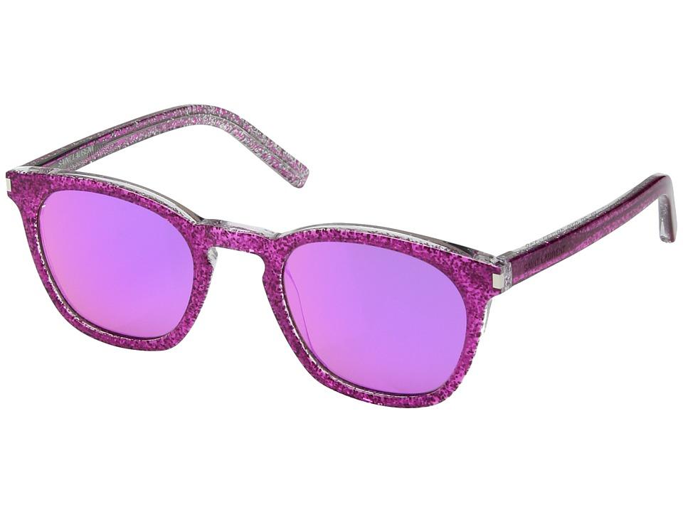 Saint Laurent - SL 28 (Pink Glitter/Pink Purple Mirror) F...
