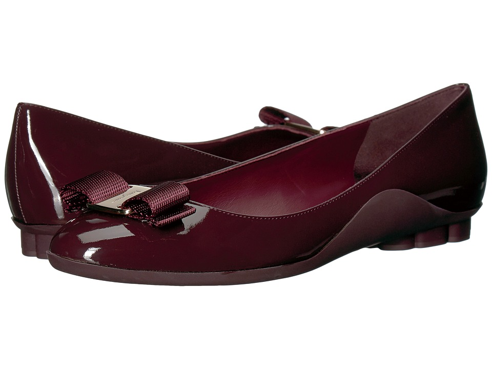 Salvatore Ferragamo Lustra (Deep Bordeaux) Women