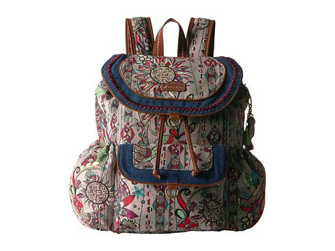 Sakroots Sakroots Artist Circle Flap Backpack - Charcoal Spirit Desert
