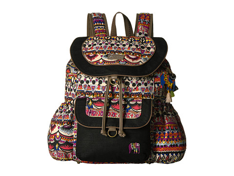Sakroots Sakroots Artist Circle Flap Backpack - Camel One World