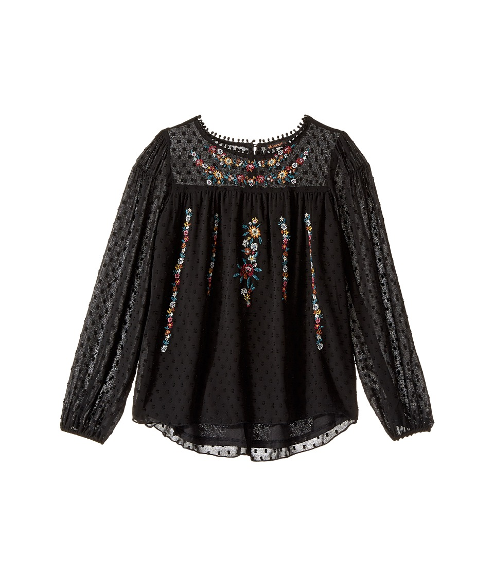 Ella Moss Girl - Kera Eyelash Chiffon Top with Embroidery