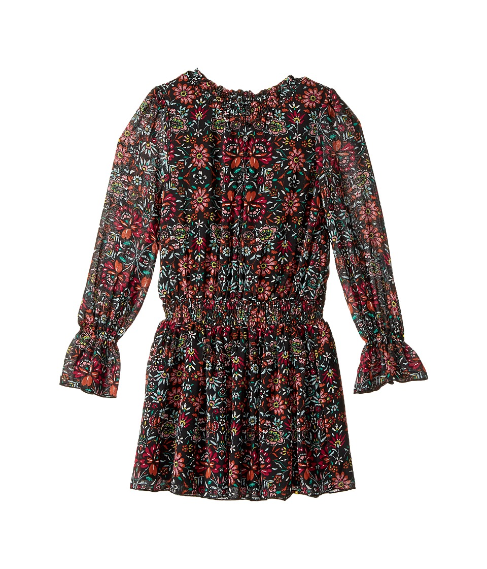 Ella Moss Girl - Deb Floral Printed Chiffon Dress with Bell Sleeves