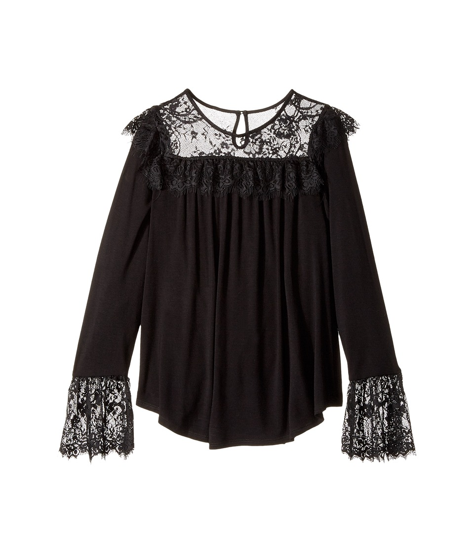Ella Moss Girl - Jacey Long Sleeve Knit Top with Lace