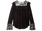 Ella Moss Girl Jacey Long Sleeve Knit Top with Lace (Big Kids)