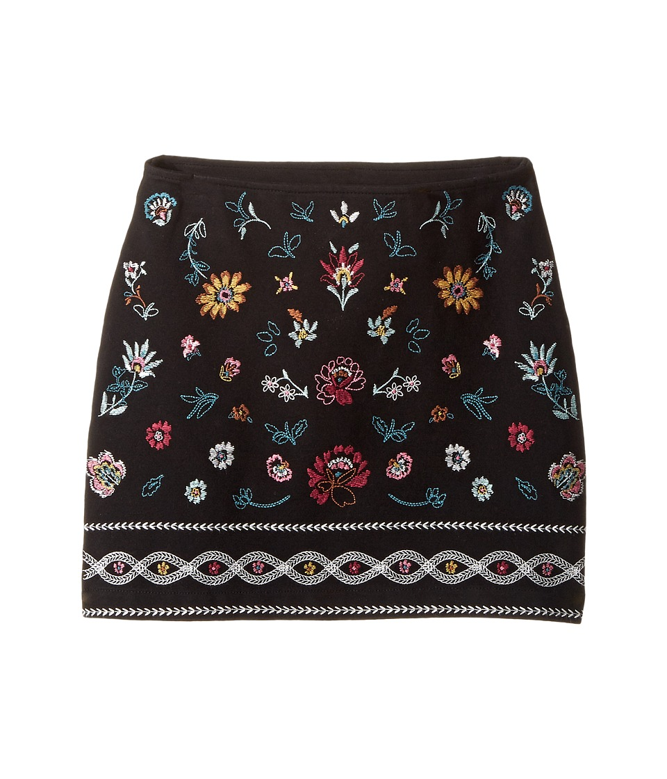 Ella Moss Girl - Kera Ponte Skirt with Embroidery