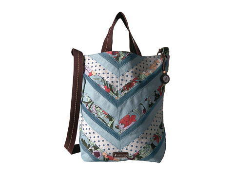 Sakroots Artist Circle Campus Tote - Sky Blue Flower Power