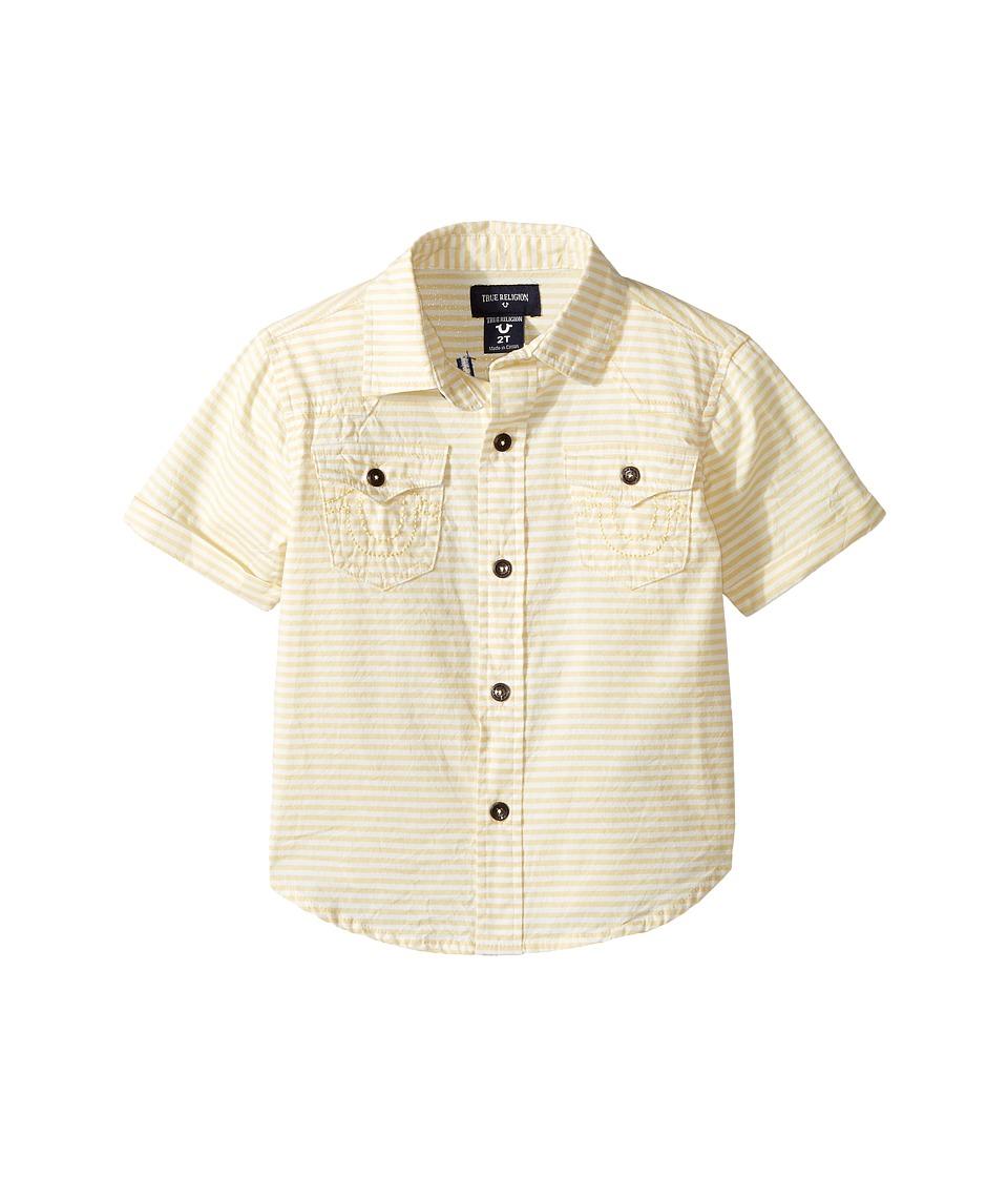 True Religion Kids Woven Stripe Shirt (Toddler/Little Kids) (White) Boy