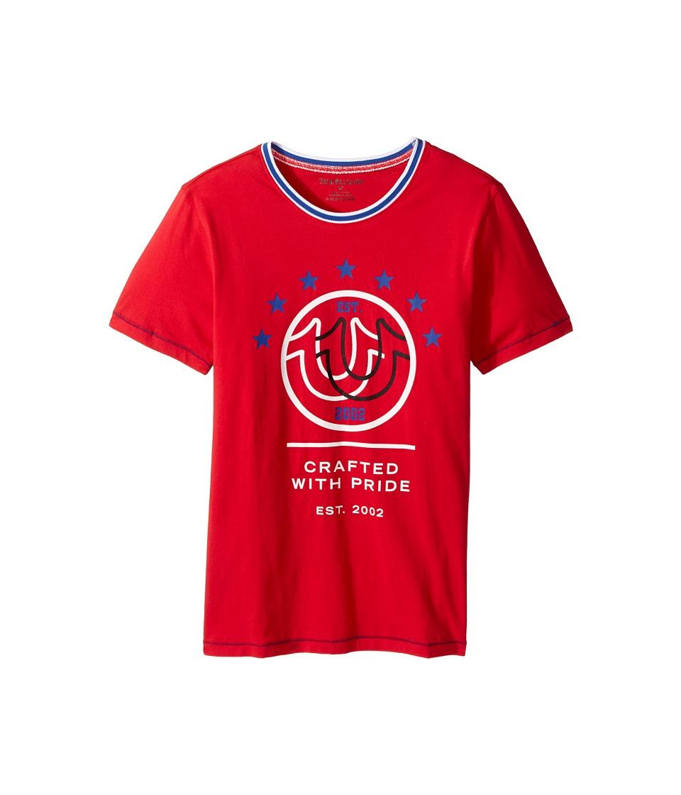 True Religion Kids Retro T-Shirt (Big Kids) (Bright Red) Boy