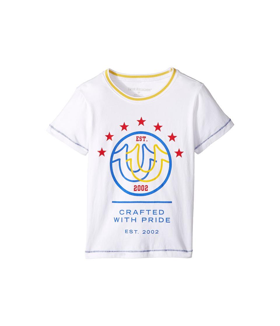 True Religion Kids Retro T-Shirt (Toddler/Little Kids) (White) Boy