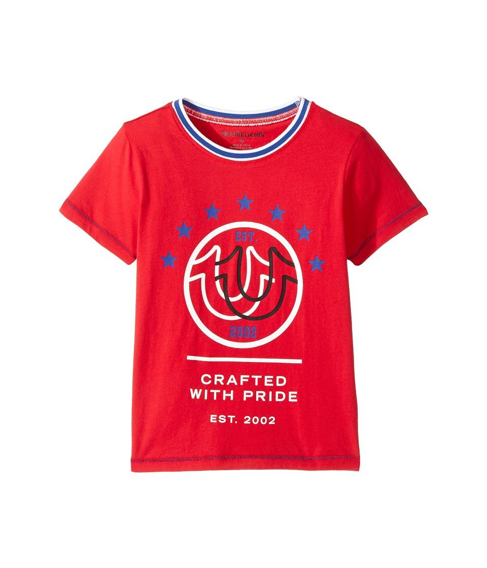 True Religion Kids Retro T-Shirt (Toddler/Little Kids) (Bright Red) Boy