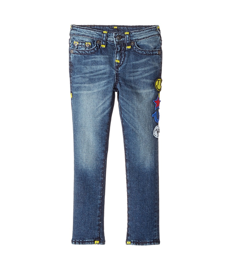 True Religion Kids Tony Jeans with Patches in Rustic Indigo (Toddler/Little Kids) (Rustic Indigo) Boy