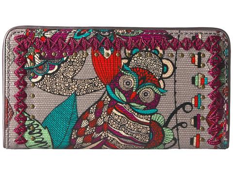 Sakroots Artist Circle Slim Wallet - Charcoal Spirit Desert