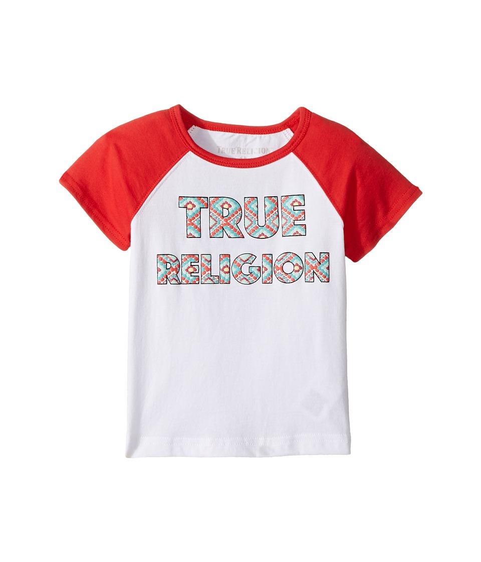 True Religion Kids Raglan T-Shirt (Toddler/Little Kids) (White) Girl