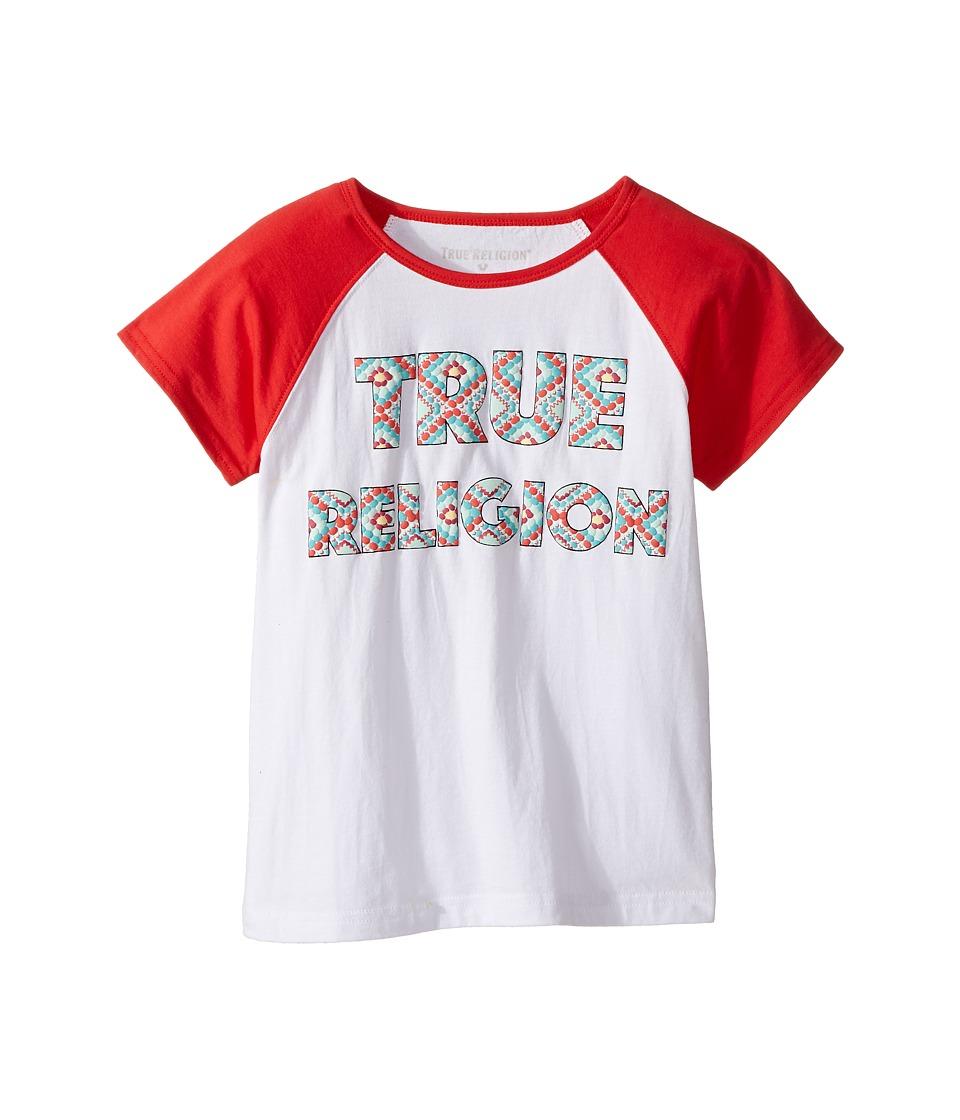 True Religion Kids Raglan T-Shirt (Big Kids) (White) Girl