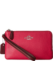 COACH - Leather Colorblock Double Small Wristlet