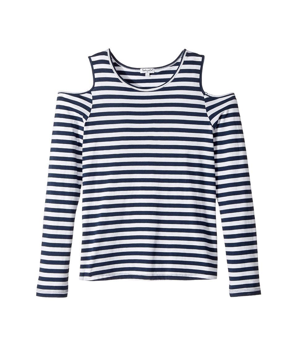 Splendid Littles - Long Sleeve Cold Shoulder Stripe Top