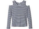 Splendid Littles - Long Sleeve Cold Shoulder Stripe Top (Big Kids)
