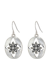 The Sak - Floral Oval Drop Earrings