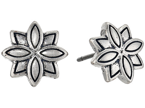 The Sak Layered Flower Stud Earrings - Silver