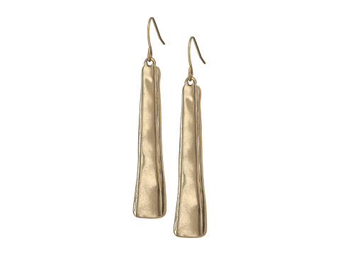 The Sak Layered Paddle Drop Earrings - Gold