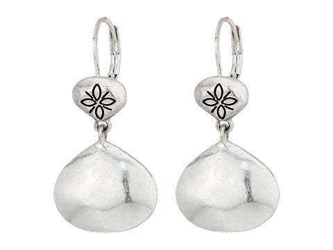 The Sak Metal Double Drop Earrings - Silver