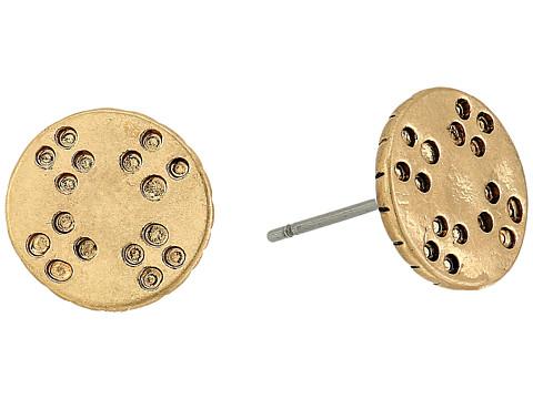 The Sak Etched Metal Stud Earrings - Gold