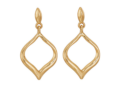 The Sak Small Arabesque Drop Earrings - Gold