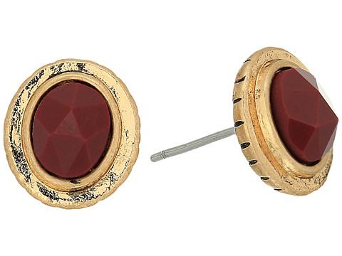 The Sak Color Stud Earrings - Burgundy