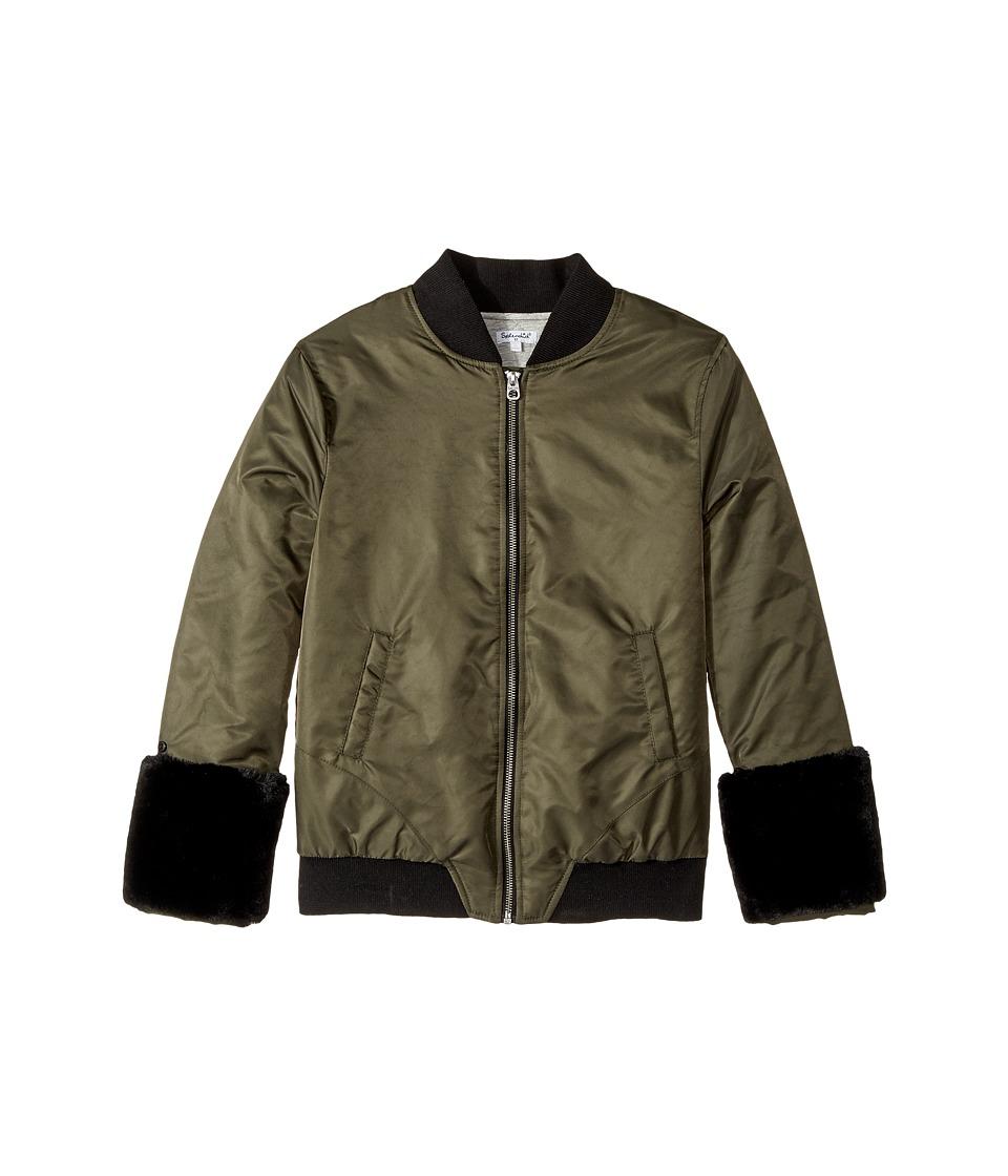 Splendid Littles - Faux Fur Cuff Bomber Jacket