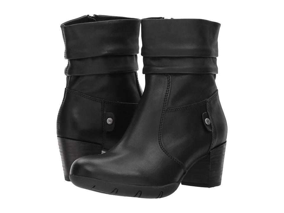Wolky Colville (Black Vegi Leather) Women