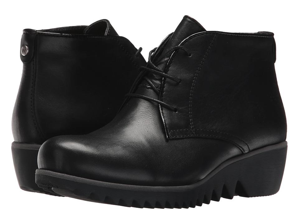 Wolky Dusky Winter (Black Velvet Leather) Women