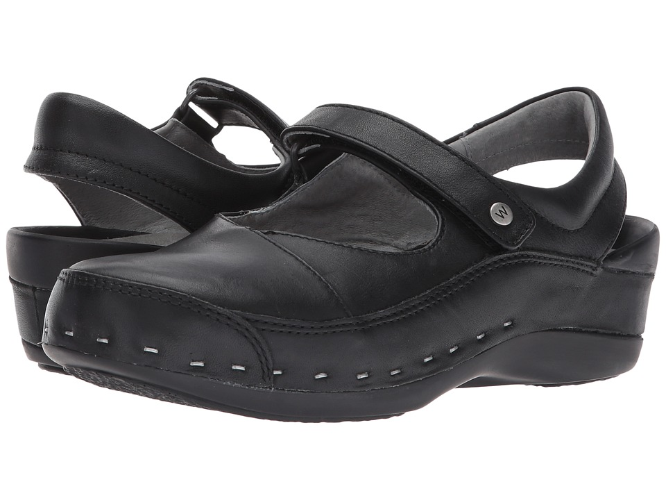 Wolky Strap Cloggy (Black Mighty Leather) Clogs