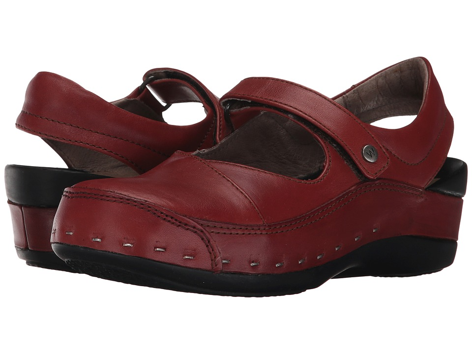 Wolky Strap Cloggy (Terracotta Vegi Leather) Clogs