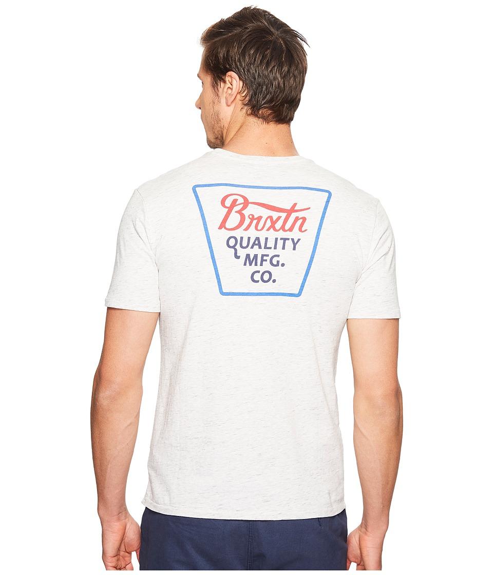 Brixton Potrero Short Sleeve Premium Tee (Heather Stone) Men