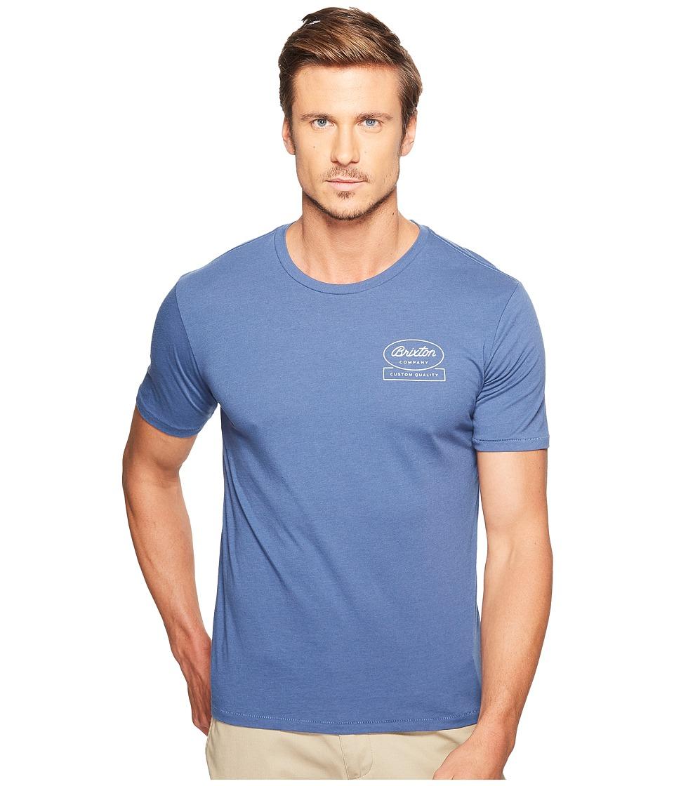 Brixton Dale Short Sleeve Premium Tee (Deep Blue) Men