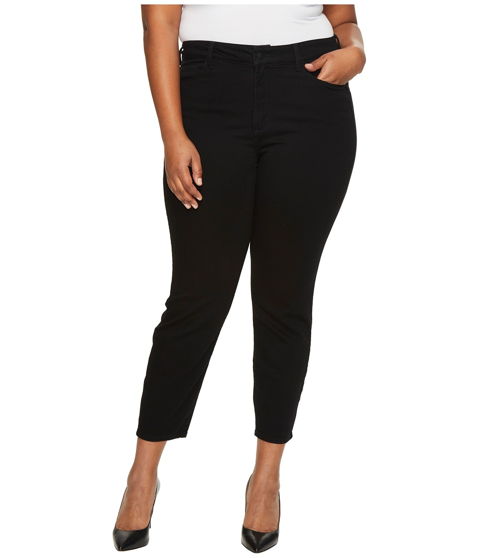 NYDJ Plus Size Plus Size Alina Ankle Jeans in Luxury Touch Denim in Black Garment Wash (Black Garment Wash) Women