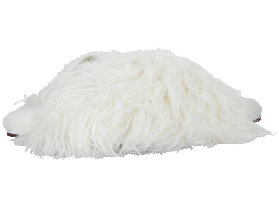 UGG Fluff Momma Mongolian Clog (White) Slippers