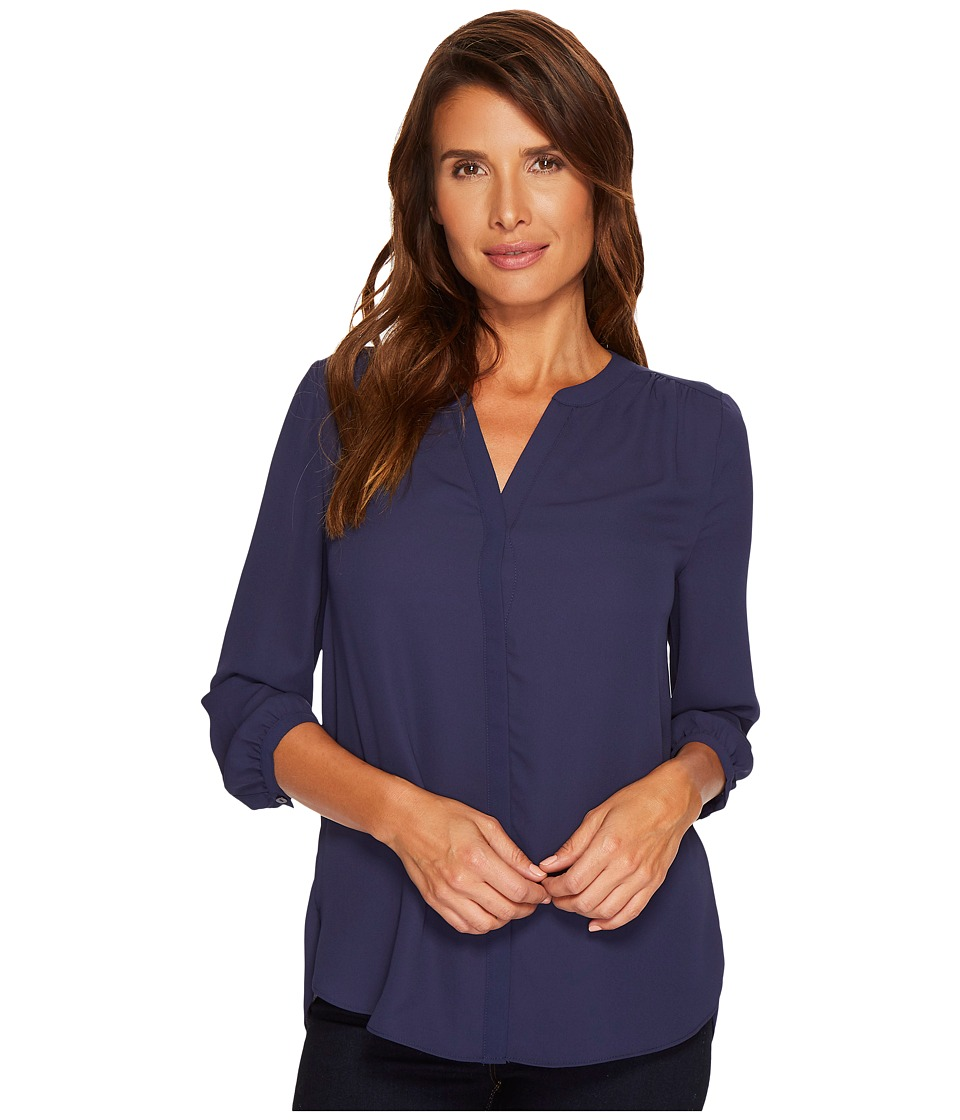 NYDJ - Blouse w/ Pleated Back (Peacoat) Womens Blouse