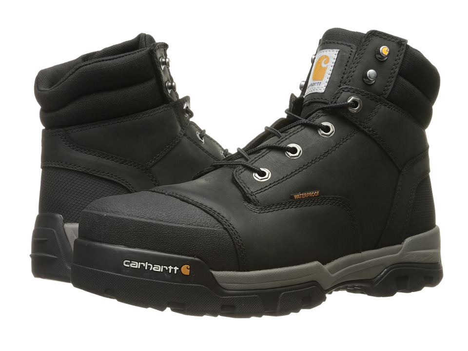 Carhartt 6 Ground Force Waterproof Composite Toe Work Boot (Black Oil Tanned Leather) Men