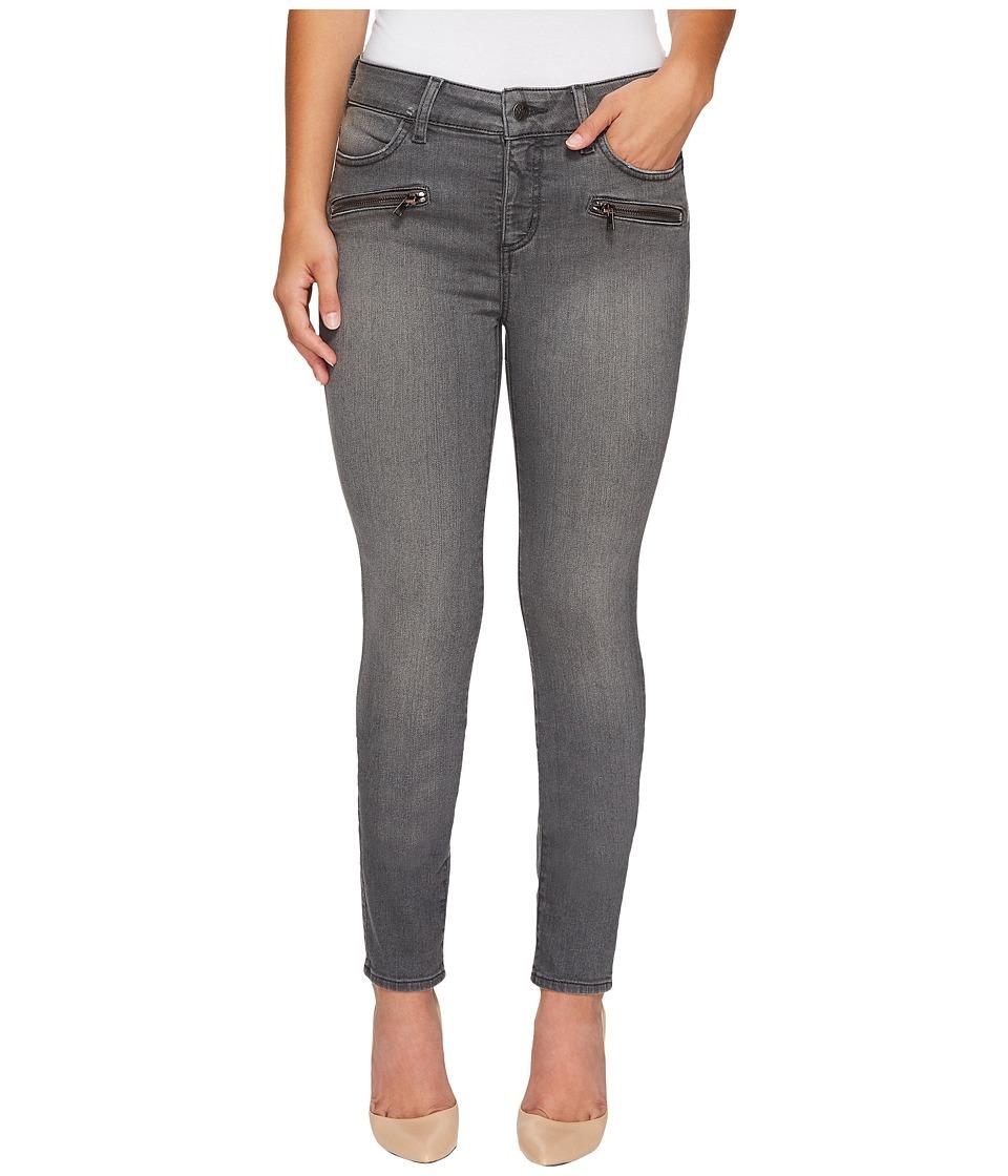 NYDJ Petite Petite Alina Legging Jeans w/ Zippers in Future Fit Denim in Alchemy (Alchemy) Women