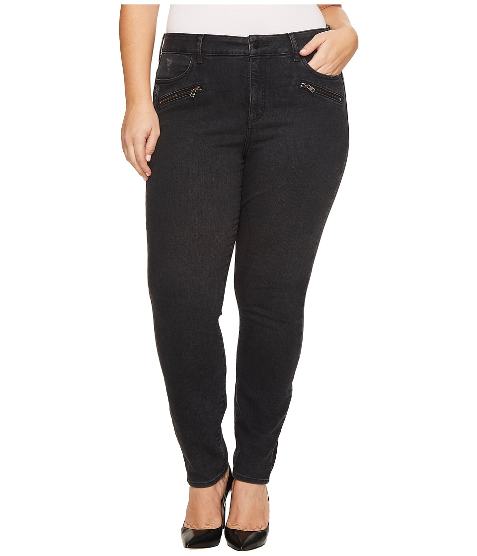 NYDJ Plus Size Plus Size Alina Legging Jeans with Zippers in Future Fit Denim in Campaign (Campaign) Women