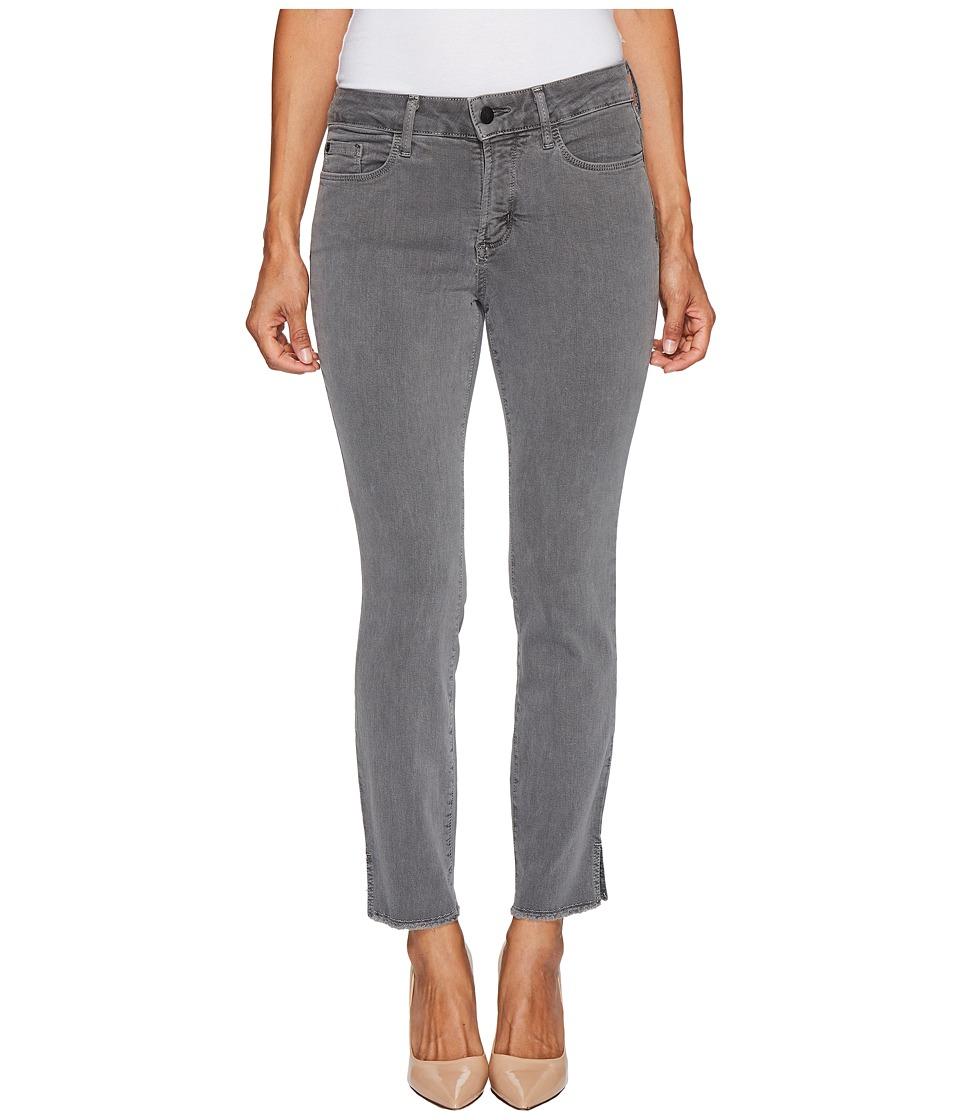 NYDJ Petite Petite Ami Skinny Ankle Jeans w/ Fray Side Slit in Vintage Pewter (Vintage Pewter) Women