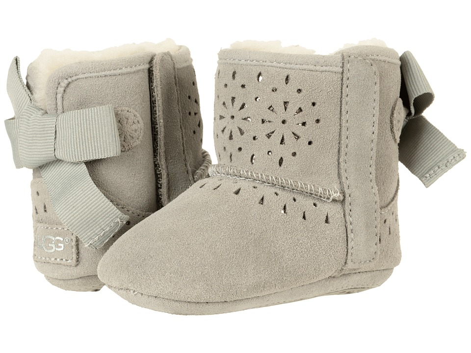 UGG Kids Jesse Bow II Sunshine Perf (Infant/Toddler) (Seal) Girls Shoes