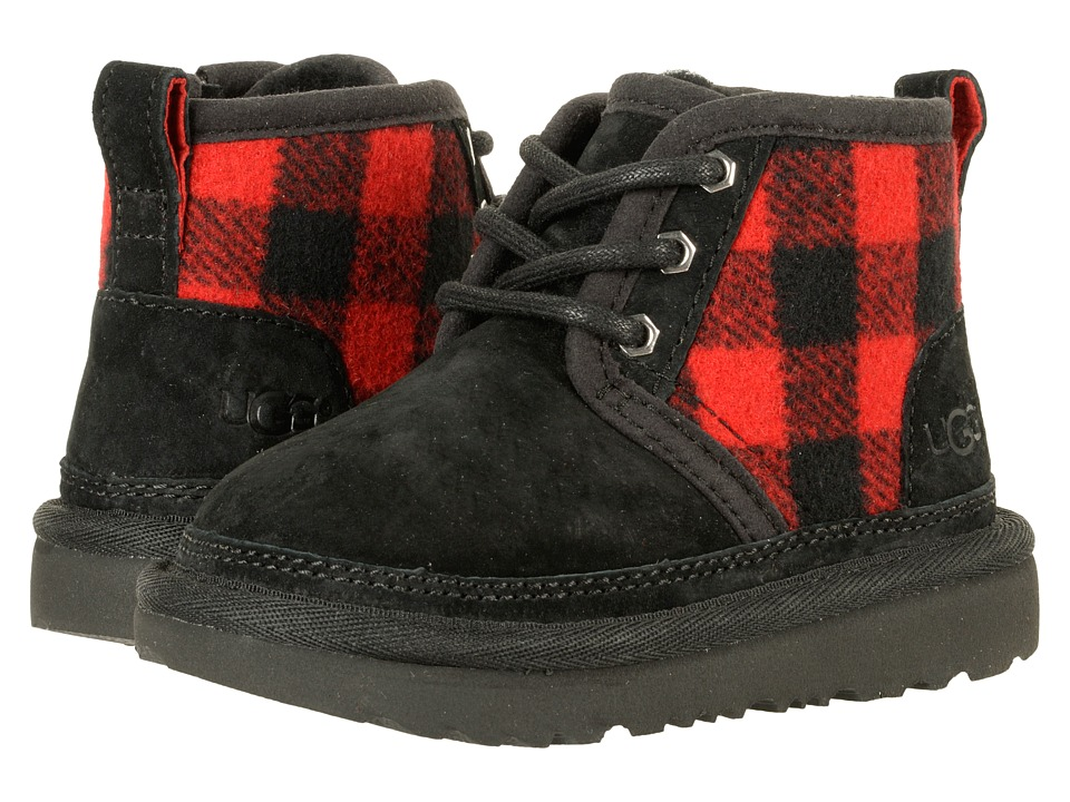 UGG Kids Neumel II Plaid (Toddler/Little Kid) (Redwood) Boys Shoes