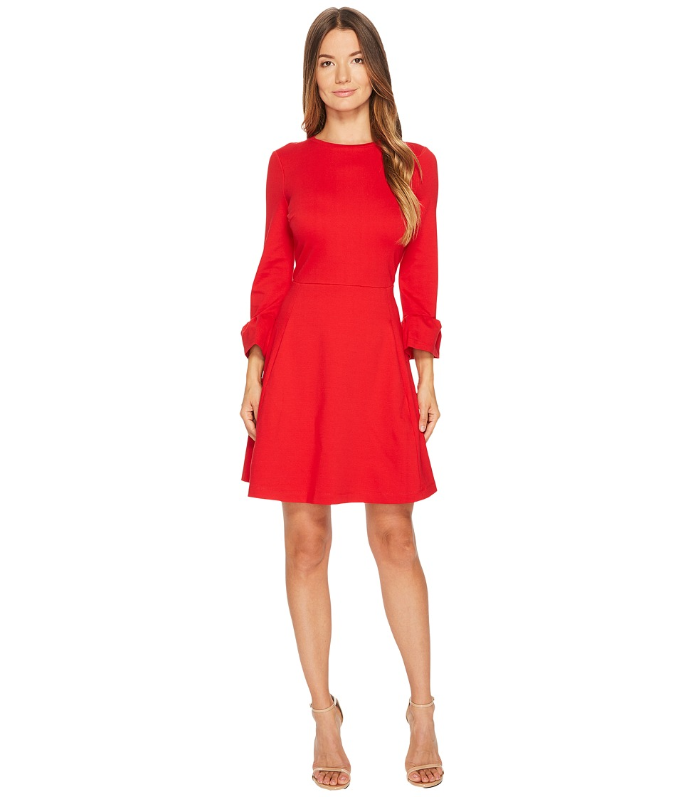 Kate Spade New York Ponte Fit and Flare Dress (Charm Red) Women