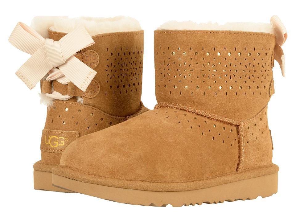 UGG Kids Dae Sunshine Perf (Little Kid/Big Kid) (Chestnut) Girls Shoes